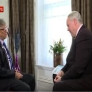 How to sit and stand on TV Bill Gates