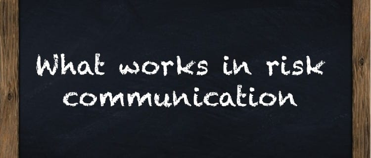 what works in risk communication